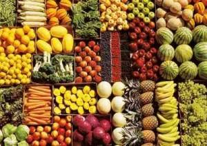 Cómo exhibir frutas y verduras
