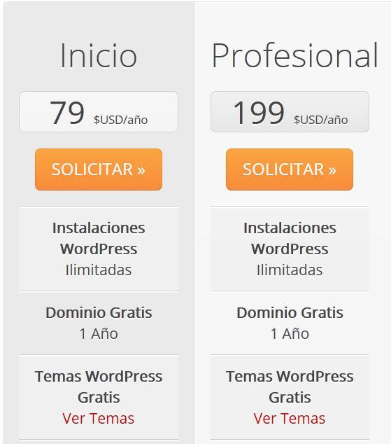 Pagina web y hosting en webempresa