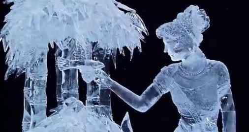 Negocio de esculturas de hielo